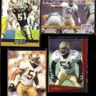 SAM MILLS (4) Card Lot (1990 - 1993).  SAINTS
