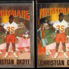 CHRISTIAN OKOYE 1992 PrimeTime Silver Insert w/ sister.  CHIEFS