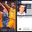 KEVIN LOVE (2) 2009 Upper Deck #107.  TWOLVES