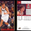ANDREW BOGUT (2) 2009 Upper Deck #104.  BUCKS