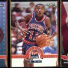 ISIAH THOMAS (3) Card 1993 Skybox USA Lot - Magic on; Rookie + International
