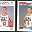 CHRIS MULLIN 1992 Impel USA #14 + 1991 Hoops USA #591.