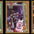 DAVID ROBINSON (3) Card 1992 Fleer Lot - reg;  Award + Slam Dunk.  SPURS