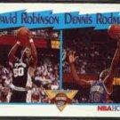 DAVID ROBINSON / DENNIS RODMAN 1991 Hoops Leaders #311.
