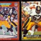 DERMONTTI DAWSON 1989 Pro Set RC #344 + 1991 Pro Set #272.  STEELERS