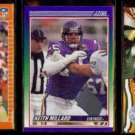 KEITH MILLARD (3) Card Lot (1989 - 1991).  VIKINGS