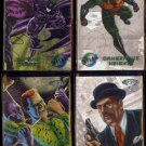 BATMAN FOREVER 1995 Metal (DC COMICS) (4) Card Lot w/ Robin ++