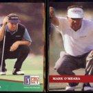 MARK O'MEARA 1991 Pro Set #113 + 1992 Pro Set #39.  PGA