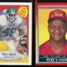 PERCY SNOW 1990 Fleer Draft #342 + 1990 Score Rookie #606.  CHIEFS