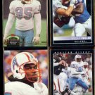 WILLIAM FULLER (4) Card Lot (1992 + 1993).  OILERS