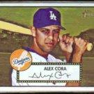 ALEX CORA 2001 Topps Heritage #94.  DODGERS