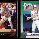 REX HUDLER 1992 Leaf Black GOLD Insert + 1990 Topps.  CARDS / EXPOS