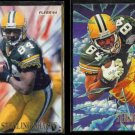 STERLING SHARPE 1994 Fleer Leader + 1995 Fleer Pro Vision Inserts.  PACKERS