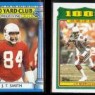 J. T. SMITH 1987 Topps + 1988 Topps 1000 Yard Club Inserts.  CARDS