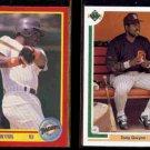 TONY GWYNN 1990 Score #255 + 1991 Upper Deck #255.  PADRES