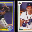 DAVE JUSTICE 1990 Score Rookie #650 + 1991 Upper Deck #363.  BRAVES