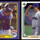 TINO MARTINEZ 1990 Score #596 + 1991 Upper Deck #553.  MARINERS