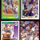 DAVE VALLE (4) Card Lot (1990 - 1993).  MARINERS