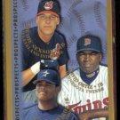 DAVID ORTIZ 1998 Topps Prospects #257 w/ Sexson.  TWINS