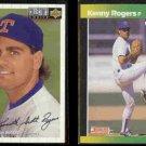 KENNY ROGERS 1994 UD CC Silver Sig. Insert + 1989 Donruss Best.  RANGERS