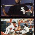 TIM RAINES 1992 Stadium Club #426 + 1993 SC #43.  WHITE SOX