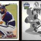 CRAIG BIGGIO 1992 Upper Deck #162 + 1992 Score Dream Team #888.  ASTROS