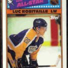 LUC ROBITAILLE 1988 Topps All Star Sticker #1.  LA KINGS