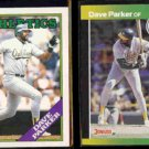 DAVE PARKER 1988 Topps Traded #81T + 1989 Donruss Best #336.  A's