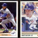 BRETT BUTLER 1991 Upper Deck #732 + 1992 Score #778.  DODGERS