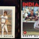 BRETT BUTLER 1986 Topps mini #12 + 1986 Topps #149.  INDIANS