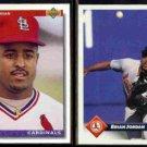 BRIAN JORDAN 1992 Upper Deck Star Rookie + 1993 Donruss.  CARDS