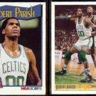 ROBERT PARRISH 1991 Hoops #305 + 1991 Upper Deck #163.  CELTICS