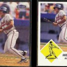 ANDRUW JONES 1998 Fleer Tradition #271 + 1998 Fleer Vintage 63 #3.  BRAVES  BRAVES