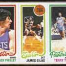 JAMES SILAS 1980 Topps #206.  SPURS - Section Card