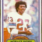 HORACE IVORY 1980 Topps #208.  PATRIOTS