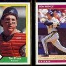 TOM PRINCE 1990 CMC #14 + 1992 Score #618.  BISONS / PIRATES