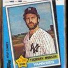 THURMAN MUNSON 1982 Topps Kmart #29 of 44.  NYY