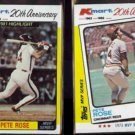 PETE ROSE (2) 1982 Topps KMart Odds #44 + #24.  PHILLIES / REDS
