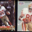 JERRY RICE 1991 Pro Set #11 + 1991 Pro Set #379.  49ers