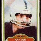 RAY GUY 1980 Topps #310.  RAIDERS