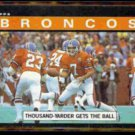 BRONCOS 1000-yarder gets ball 1985 Topps #235.  ELWAY