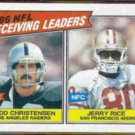 JERRY RICE / TODD CHRISTENSEN 1987 Topps #228.  49ers