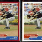 MIKE LOWELL 2004 Topps Bazooka Red + White Border Cards #85.  MARLINS