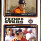 DAVID WRIGHT 2005 Topps Future Stars #330.  METS