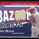 TROY GLAUS 2004 Topps Bazooka Blast Game Used Bat #BB-TG.  ANGELS