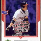 CHIPPER JONES 2004 UD All Star Lineup #AS-CJ.  BRAVES