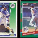 KEN GRIFFEY Jr. 1992 Score #1 + DAD 1991 Donruss #452.  MARINERS