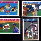 KEN GRIFFEY Jr. (4) Card 1992 Upper Deck Looney Tunes Lot w/ Sr. +.  MARINERS
