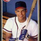 DAVID JUSTICE 1990 Post Cereal Insert #29 of 30.  BRAVES
