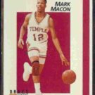MARK MACON 1991 Courtside Draft Pix (PROMO) #1 of 40.  TEMPLE